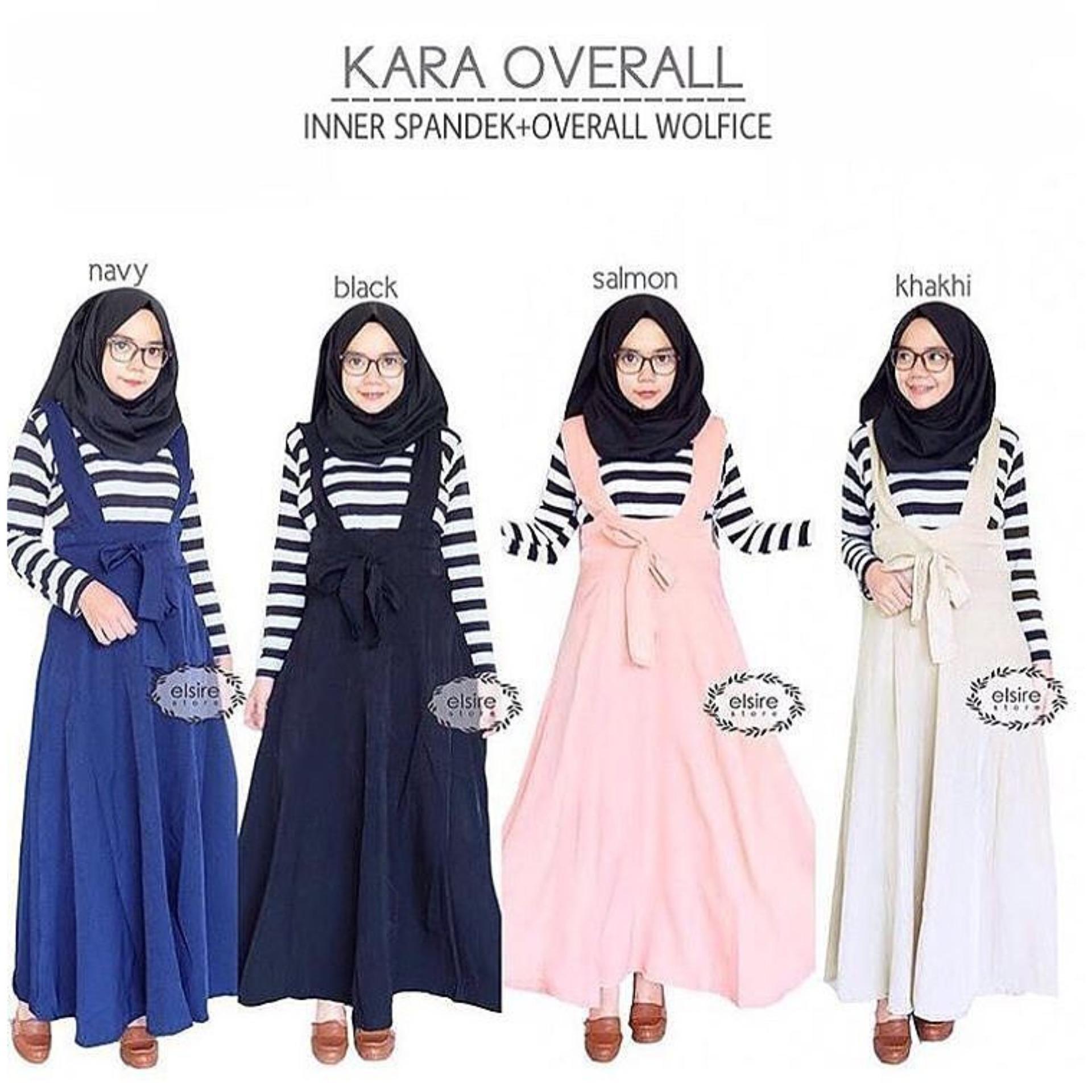 Jual Baju Original Kara Overall Inner Spandek Wolfice Stelan Wanita Muslimah Celana Joger Panjang Casual Khaki Branded Original