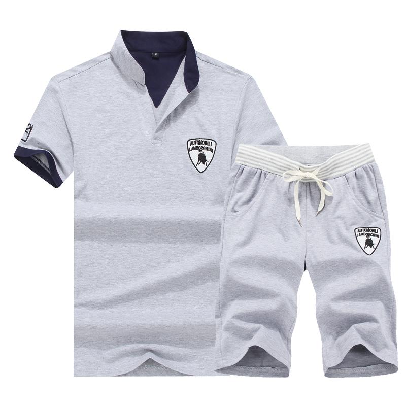 Baju POLO Anak Muda Lengan Pendek Ukuran Besar Versi Korea (Abu-abu) baju Atasan Kaos Pria Kemeja Pria Kaos Polo