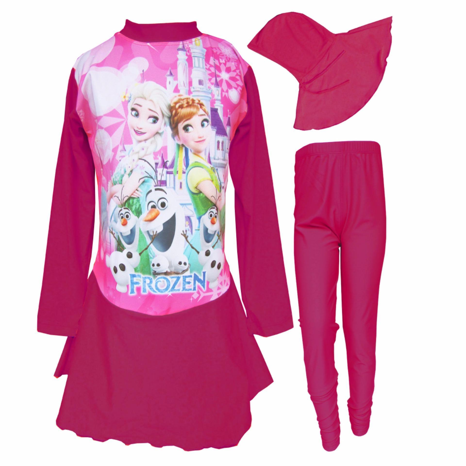 Jual Baju Renang Anak Muslim Karakter 5 10 Thn Branded