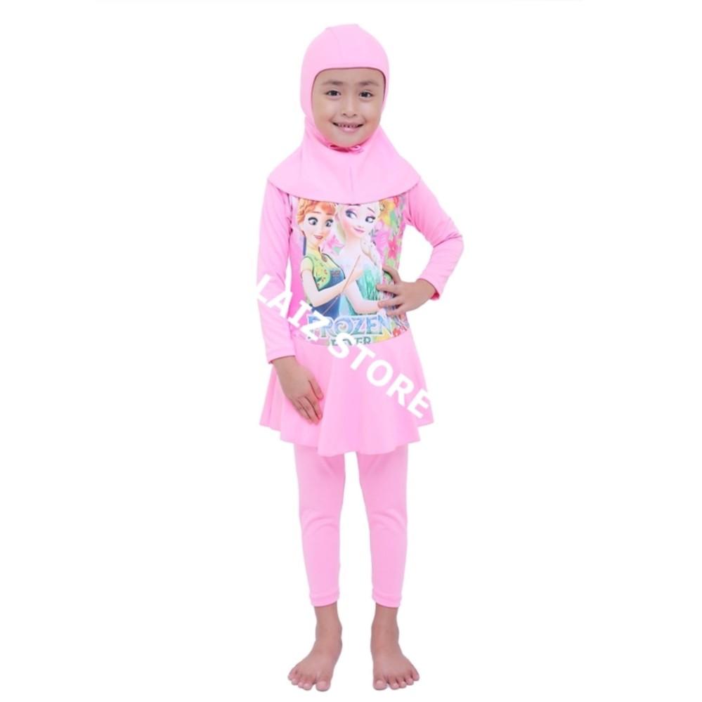 Baju Renang Anak Muslimah Perempuan Usia TK