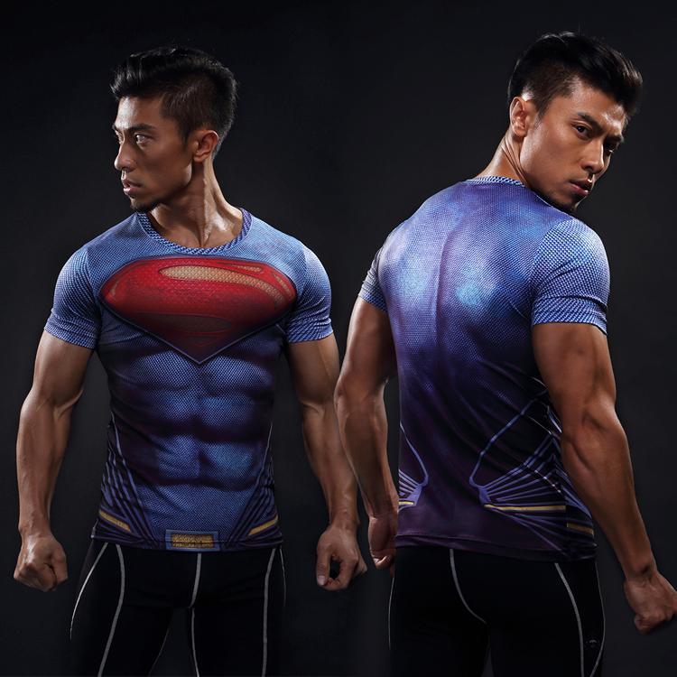 Beli Baju Superman Lengan Pendek Cepat Kering Biru Superman Lengan Pendek Biru Superman Lengan Pendek Di Tiongkok