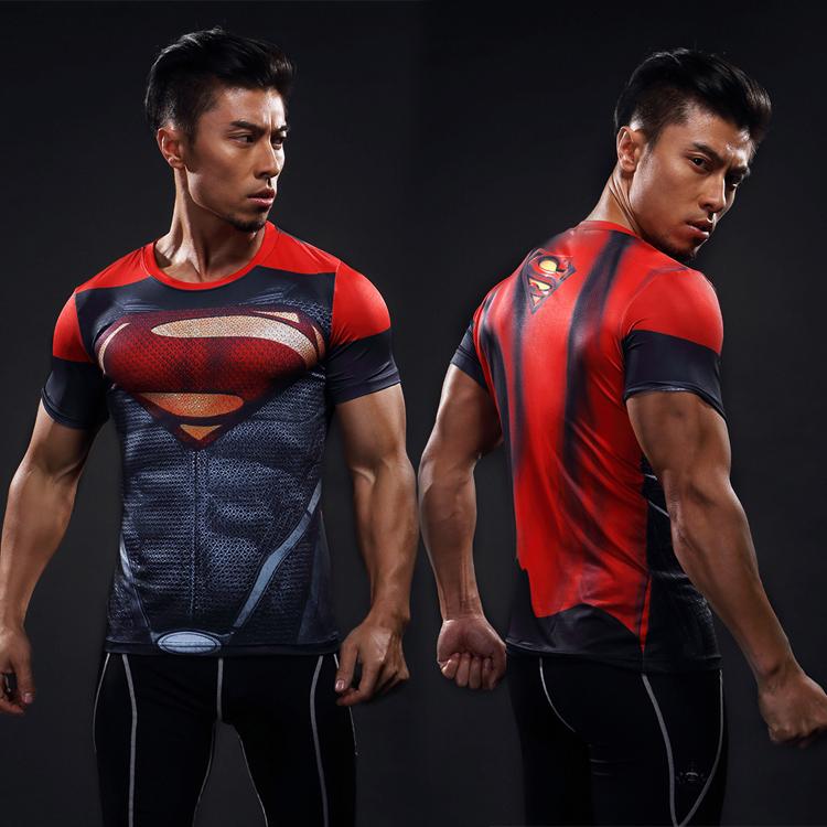 Baju Superman Lengan Pendek Cepat Kering Merah Dan Hitam Superman Lengan Pendek Merah Dan Hitam Superman Lengan Pendek Other Diskon 40