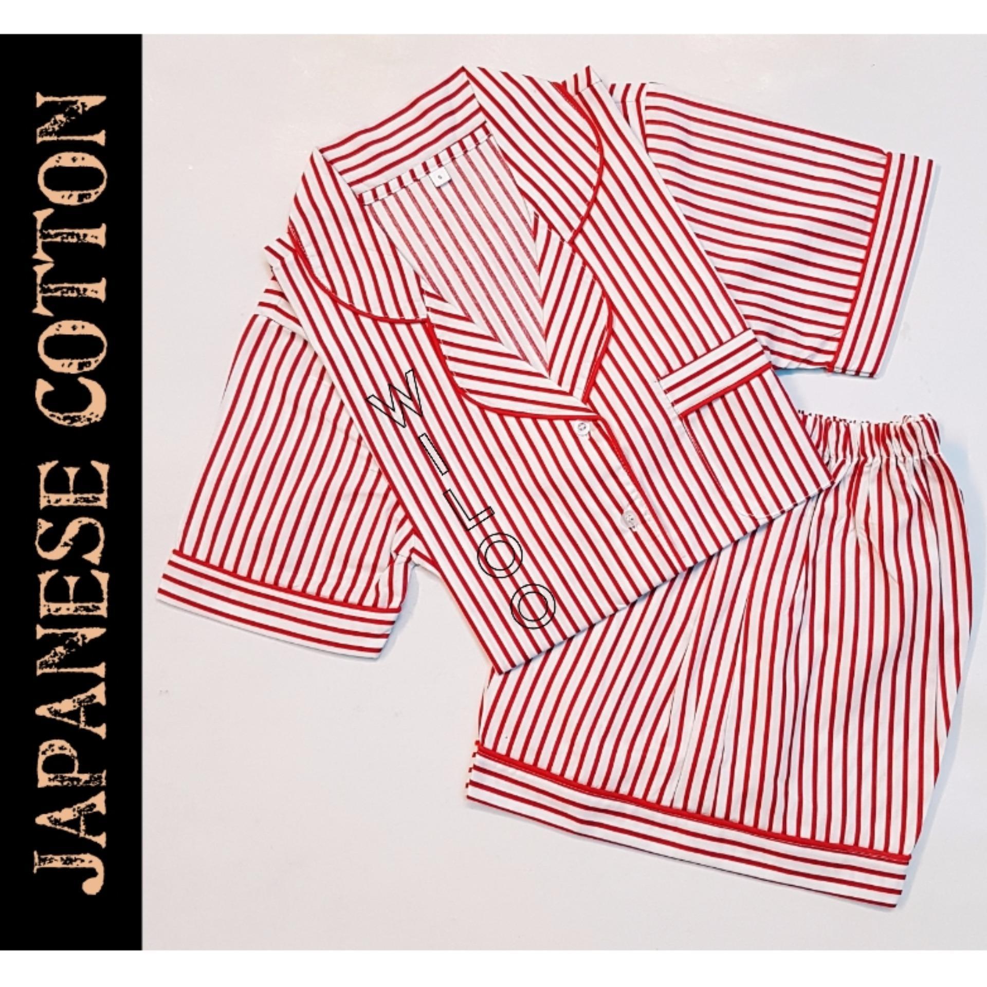 Toko Baju Tidur Wanita Piyama Japanese Cotton Salur Cs Lengkap
