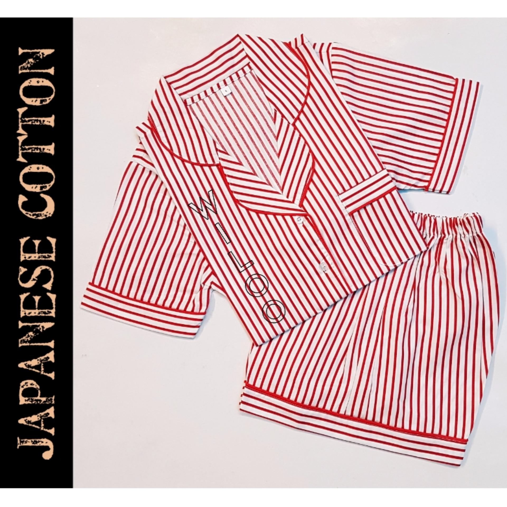 Harga Baju Tidur Wanita Piyama Japanese Cotton Salur Cs Termahal