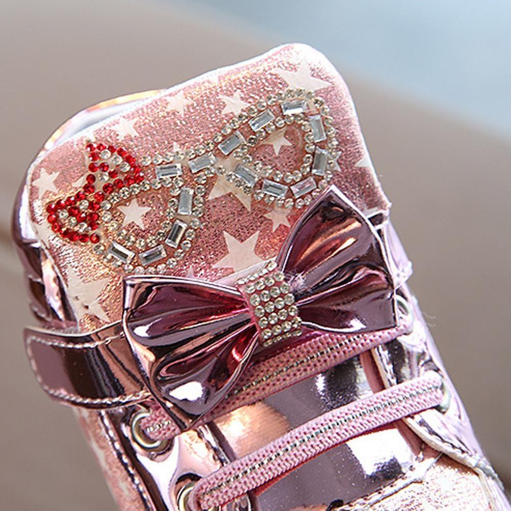 Promo Balita Bayi Fashion Sneakers Star Luminous Anak Kasual Sepatu Lampu Penuh Warna Di Hong Kong Sar Tiongkok