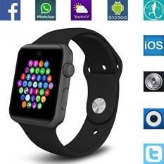 Banaus Bs19 Terbaru Smart Watch dengan Bluetooth 4.0 Mendukung SIM Watch PHONE untuk Android Samsung Galaxy S4/S5/S6 /S7/Note3/note4/note5/note6 HTC Sony LG Xiaomi Huawei Zuk dan IPhone 5/ 5C/5 S/6/6 S Hitam-Intl