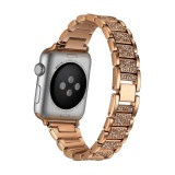 Jual Bandkin Stainless Steel Strap Crystal Diamond Bracelet For Apple Watch 1 2 38Mm Intl Termurah