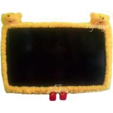Bando LED / Cover / Bingkai TV Bahan Bulu Mawar 2 Kepala Boneka Karakter 21 - 32 Inch