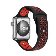 Band untuk Apple Watch 38mm, Silicone Sport Tali Penggantian Gelang Gelang dengan Quick Release Buckle untuk Apple Watch Nike +, Seri 2, Seri 1, SPORT, Edition-Intl