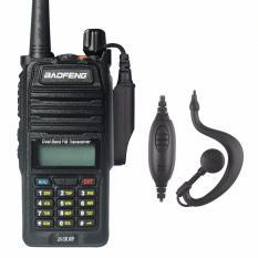 Review Baofeng Radio Walkie Handy Talky Ht Pofung Dual Band Uhf Vhf Waterproof Ip67 Version Uv 5R Wp Black Baofeng Di Banten