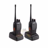 Baofeng Walkie Talkie Bf 888S Uhf 16 Ch 2 Unit Portable Two Way Radio Sepasang Ht Handy Talkie Radio Hitam Baofeng Diskon