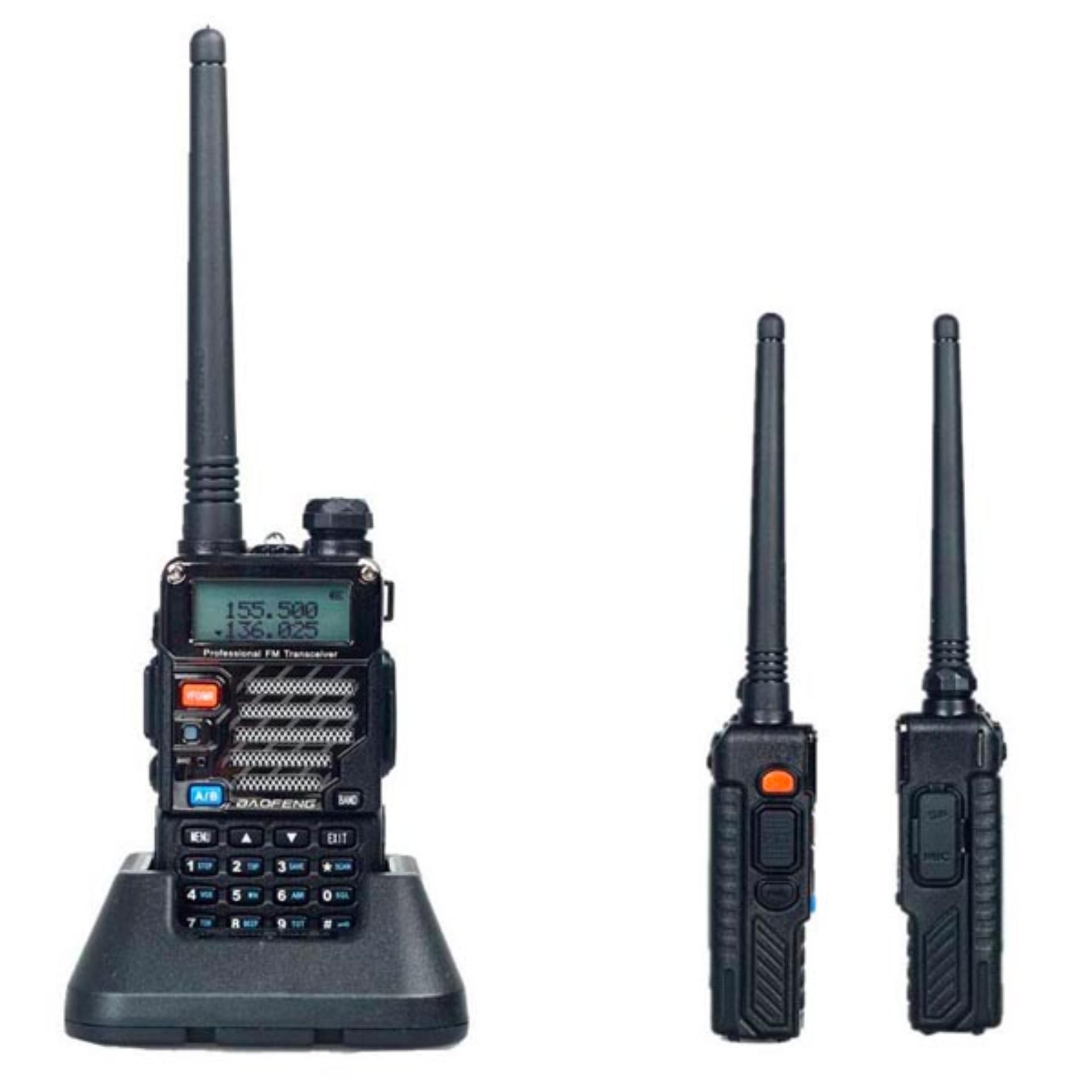 Tips Beli Baofeng Walkie Talkie Dual Band Two Way Radio 5W 128Ch Uhf Vhf Bf Uv5Re Plus Hitam Yang Bagus