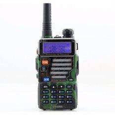 Beli Baofeng Walkie Talkie Dual Band Two Way Radio 5W 128Ch Uhf Vhf Bf Uv5Re Headset Free Alat Komunikasi Handy Talkie Camuflage Loreng Army Hijau Nyicil