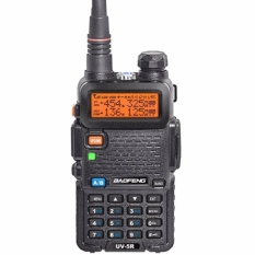Beli Baofeng Walkie Talkie Ht Handy Talkie Radio Ht Komunikasi Uv5R Uv 5R 1 5 Lcd 5W 128 Ch Dual Band Uhf Vhf Headset Free Hitam Cicilan