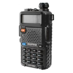 Promo Baofeng Walkie Talkie Ht Handy Talkie Uv5R Uv 5R 1 5 Lcd 5W 128 Ch Dual Band Uhf Vhf Hitam Baofeng Terbaru