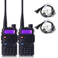 Harga Baofeng Walkie Talkie Ht Handy Talkie Uv5R Uv 5R 1 5 Lcd 5W 128 Ch Dual Band Uhf Vhf Hitam 2 Pcs Original
