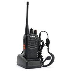 Harga Baofeng Walkie Talkie Radio Ht 16Ch Senter Led Headset Free Komunikasi Uhf 16 Channel Memory Clear Audio Handy Talkie Praktis Handal Hitam Asli Baofeng
