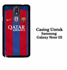 Harga Barcelona Jersey 2 Samsung Galaxy Note 3 Casing Hardcase Custom Case Cover Termahal