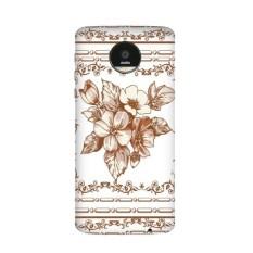 Baroque Art Flower Leaf Frame Modern Illustration Pattern Motorola Moto Z / Z Force / Z2 Force Droid Magnetic Mods Phonecase Style Mod Gift - intl