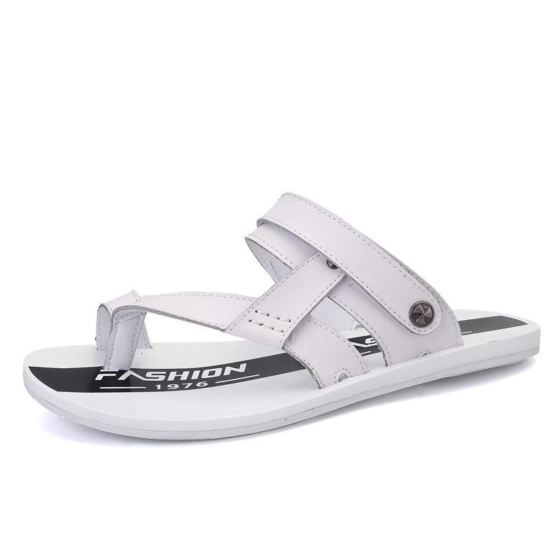 Jual Baru Musim Panas Pria Sandal Pria Leather Dual Use Sandal Sepatu Pria Sandal Pria Model Intl Ori