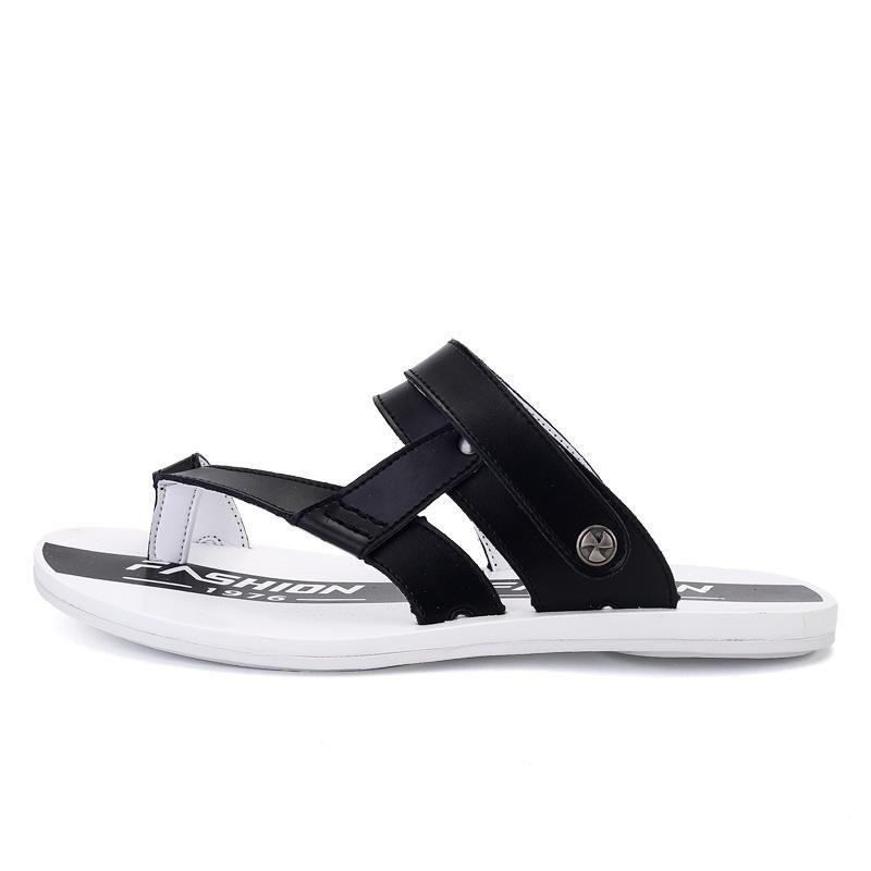 Ulasan Baru Musim Panas Sandal Pria Pria Leather Dual Use Sandal Sepatu Pria Sandal Pria Model Intl