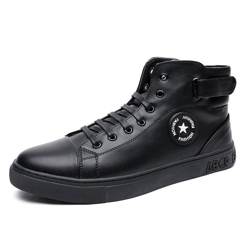Baru Tinggi Sepatu Merah Sepatu Shoes Inggris Fashion Perak Pria Boots Intl Asli