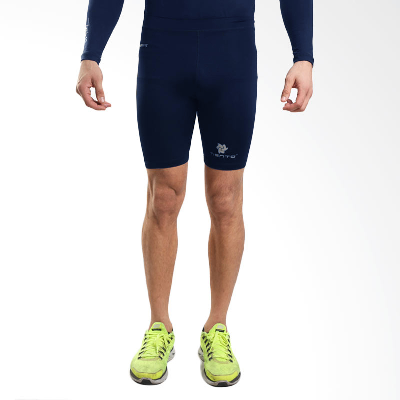 Harga Baselayer Manset Rash Guard Compression Tiento Short Pants Navy Silver Original Tiento Ori