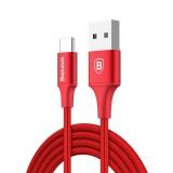 Dimana Beli Baseus 2A Tipe C Usb 2 M Nylon Dikepang Usb Charging Data Sync Kabel Dengan Lampu Indikator Merah Intl Baseus