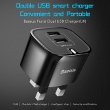 Diskon Baseus 5V2 4A Universal Usb Travel Wall Dual Charger Adapter Portable Uk Plug For Ponsel Tablet Baseus