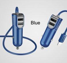 Harga Baseus Dual Usb Car Charger 5 5A Fast Car Charger Adapter Untuk Iphone 7 6 Smart Charger Ponsel Dengan 1 M Kabel Untuk Iphone Biru Intl Branded