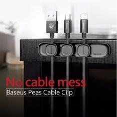 BASEUS Tahan Lama Klip Kabel Magnetik USB Penjepit Penyelenggara Kabel Desktop Workstation Wire Manajemen Kabel Kabel Winder-Intl