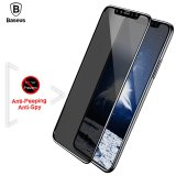 Jual Baseus For Iphone X 10 Privacy Anti Peeping Anti Spy Screen Protector Tempered Glass 3D Anti Glare Film For Iphonex Ix Toughened Glass Black Intl Di Tiongkok