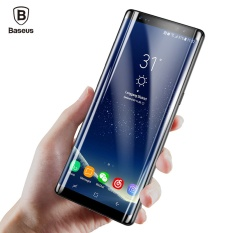 BASEUS untuk Samsung Galaxy Note 8 Full Screen Protector 3D Arc Tempered Glass Premium Kaca Pelindung Film (Hitam) -Intl