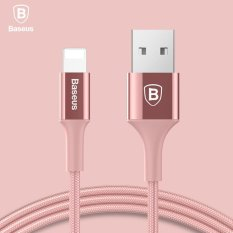 Beli Baseus Led Light Woven Nylon Usb Charger Cable For Iphone 7 6 Plus Iphone 5 Data Cable For Lightning 2A Fast Charging Aluminum Alloy Cable Rose Gold Intl Terbaru