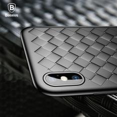 BASEUS Luxury Grid Tenun Case untuk IPhone X 5.8 Inch Ultra Tipis Lembut BV Pelindung Breathable Cover Shockproof-Intl