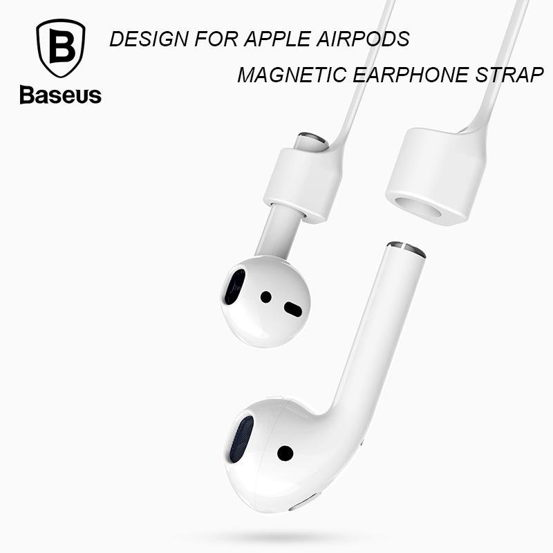 Baseus Magnetic Strap Bluetooth Silikon Anti Hilang Tali Loop String Tali For Udara Pods Headset Tiongkok