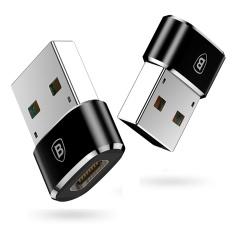 BASEUS Mini 5A Tipe-C untuk USB (Wanita untuk Pria) Charger Plug Adapter Converter (Hitam) -Intl
