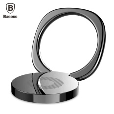 BASEUS Privity Cincin Bracket Telepon Genggam Jari Desktop Dudukan Hitam-Internasional