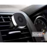 Beli Baseus Privity Series Pro Car Air Vent Genuine Leather Universal Magnetic Mobile Phone Holder Stand Silver Intl Seken