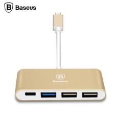 BASEUS Type-c Ke Tipe-c dan 3 Port USB HUB Adaptor untuk MacBook Baru Google GD- INTL