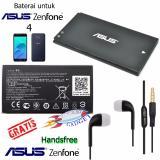 Jual Beli Online Baterai Asus Zenfone 1540Mah Untuk Asus Zenfone 4 Gratis Handsfree Asus Hitam