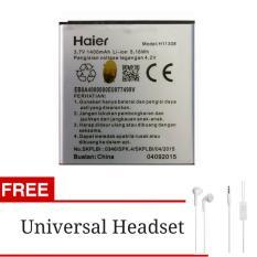 Baterai Battery Haier Smartfren Andromax C3 + Gratis Universal Headset