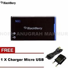 Baterai Blackberry NX-1 For Q10 Origial Baterai + Charger Micro USB- Black