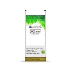 Handcom - Baterai Hippo Double Power Iphone 4G 2000mAh Original - Garansi Resmi 6 Bulan