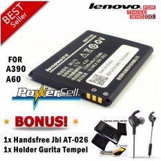 BATERAI LENOVO BL171 FOR LENOVO A390 / A60 + GRATIS HANDSFREE JBL AT-026 & HOLDER GURITA TEMPEL