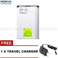 Baterai Nokia BP-4L For N97/ E63/ E71/ E71x/E72/E73/E90/N810 Original Baterai and Free Travel Charger Nokia- Black