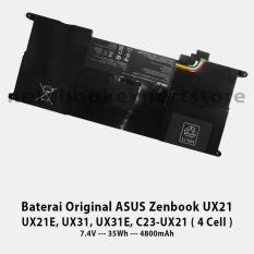 Baterai Original ASUS Zenbook UX21 UX21E- UX31- UX31E- C23-UX21 4 Cell