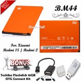 Jual Baterai Xiaomi Bm44 For Xiaomi Redmi 2 Redmi 2S Redmi 2 Prime Gratis Toshiba Flashdisk 16Gb Otg Connect Kit Xiaomi Acc Ori