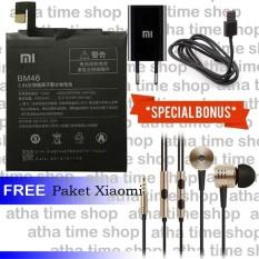 Baterai Xiaomi BM46 for Redmi Note 3 [4000/4050 mAh] Special Bonus Charger & Headset Piston Xiaomi