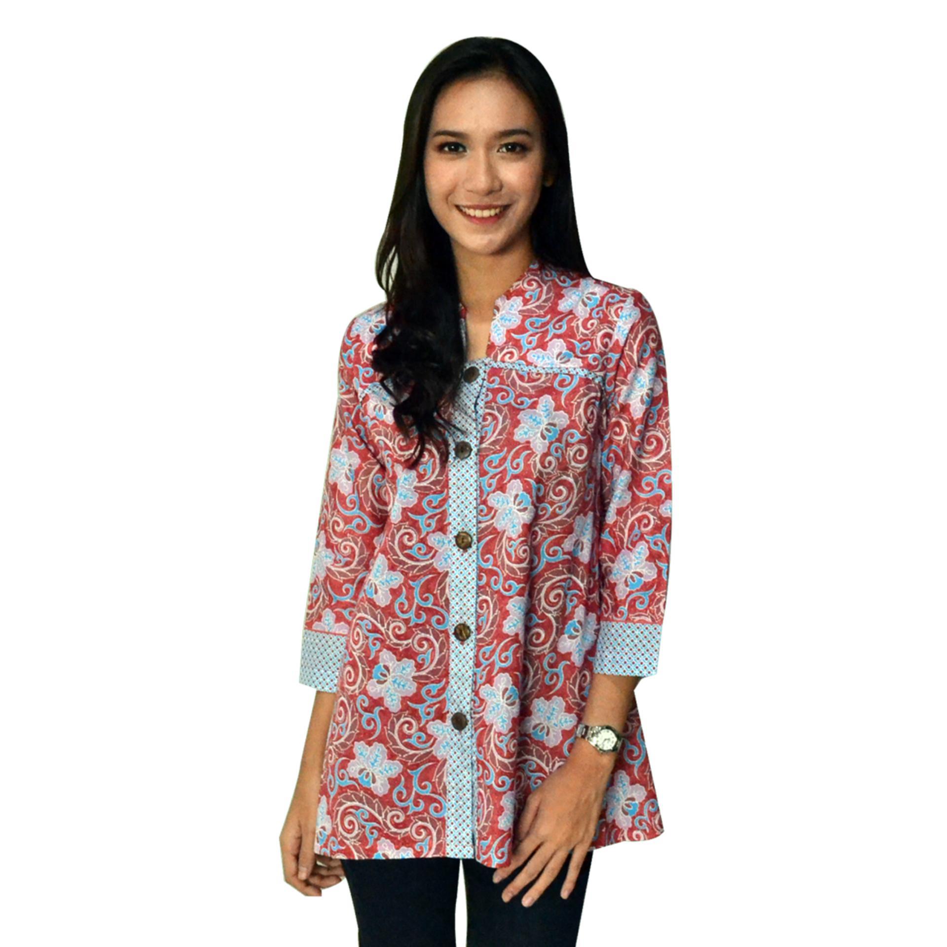 Batik Arjunaweda Kemeja Bodyfit Pria Kawung Pelangi Merah Adikusuma Koko Raster Geometris Muda L Pendek Warna Biru Daftar Harga Source Jual Produk